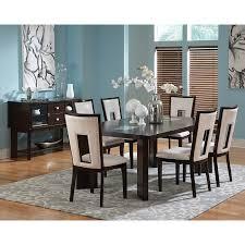 7 piece black dining room set. Steve Silver Montibello 7 Piece Marble Top Rectangular Dining Set | Hayneedle Black Room