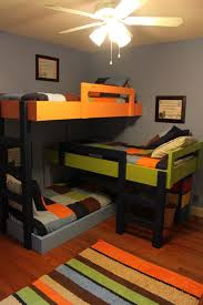 Built In Bed Designs Saving Space And Staying Stylish With Triple Bunk Beds