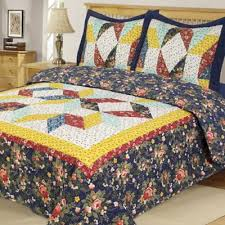 Buy Blue and Yellow Quilts from Bed Bath & Beyond & Country Star Reversible Twin Quilt Set Adamdwight.com
