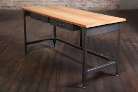 Student Work Desk Vintage Industrial, American Made, Steel, Metal and Wood  In Distressed