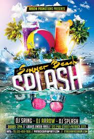 Beach Flyer Summer Beach Splash Flyer Template By Arrow3000 Graphicriver