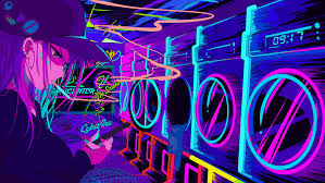 Neon Anime Wallpapers - Top Free Neon ...