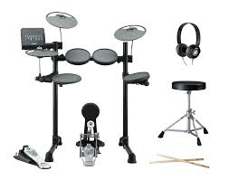 yamaha dtx. yamaha dtx450plus electronic drum kit with headphones, stool and sticks dtx