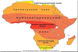 пояса Африки Климатические пояса Африки