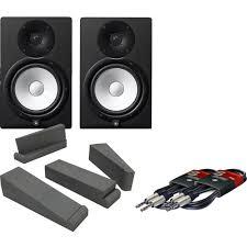 yamaha hs8 pair. yamaha hs8 black active studio monitors, isolation pads \u0026 leads bundle hs8 pair