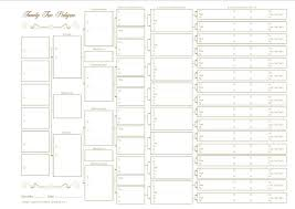 Ancestor Chart Template Generation Family Tree Sample Word Free Download 10 Pedigree Chart