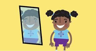 child looking in mirror clipart. mirror gazers and window child looking in clipart t