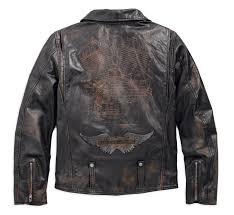 harley davidson leather biker jacket master distressed