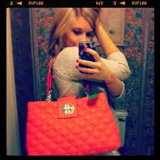79% off kate spade Handbags - REDUCED!Adorable coral quilted Kate ... & Adorable coral quilted Kate spade bag! Adamdwight.com