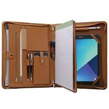 genuine leather portfolio organizer padfolio for ipad pro 12 9 inch surface pro 4 a4 portfolio for notepad com