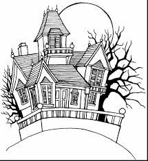 Small Picture Haunted House Coloring Page Miakenasnet