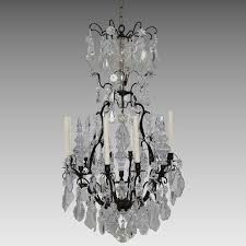 antique french bronze and crystal chandelier 8 lights