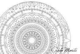ぬりえ3無料フリーダウンロード版日本曼荼羅紋様色彩画オリジナル