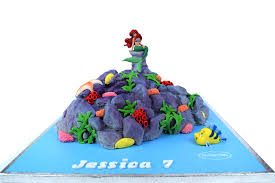 Ariel Little Mermaid Cake 3d Cake Store