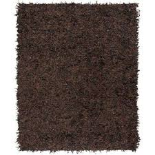 leather dark brown 8 ft x 10 ft area rug