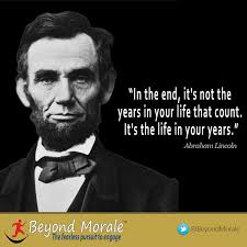 Abraham Lincoln Quotes On Life Image Abraham Lincoln it's the life in your years quote Customer 27