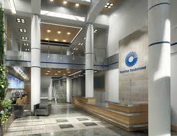corporate office lobby. after corporate office lobby
