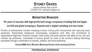 Good Personal Profile Examples For Resumes New Profile For A