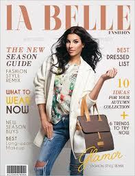 la belle premium magazine cover template