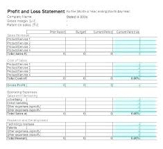 profit and loss form simple simple profit loss statement template free and form pics