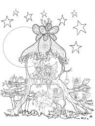 Small Picture Fairies in a tree house coloring page Coloring pages and