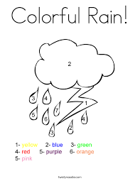 Small Picture Colorful Rain Coloring Page Twisty Noodle