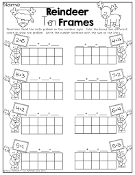 Ten Frames Cut And Paste 10 Frame Worksheets Kindergarten – newbloc