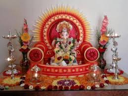 ganpati house decoration interior home decorating diya pinterest