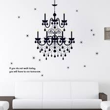 Grand Chandelier Light Fancy Stars Home Decals Wall Stickers Vinyl
