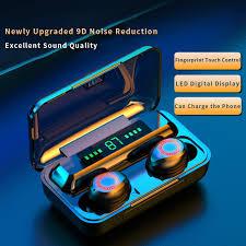 <b>S12 TWS Wireless Bluetooth</b> 5.0 Earphone 2000Mah Waterproof ...