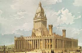 classic architectural buildings. Leeds Town Hall, 1858 (Cuthbert Brodrick) RIBA Collections Classic Architectural Buildings