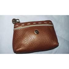 lancel small leather coin holder purses wallets cases leather orange ref 33289 joli closet