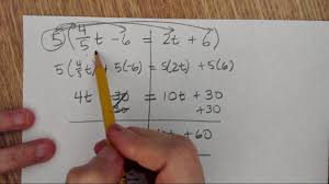 equations with variables on both sides of the equal sign fraction and decimal coefficients