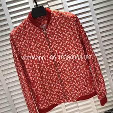whole top quality newest louis vuitton supreme lv hoos jackets