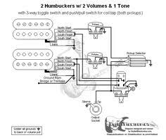 guitar wiring diagram 2 humbuckers 3 way lever switch 2 volumes 1 Guitar Wiring Diagram 2 Humbucker 1 Volume 1 Tone guitarelectronics com guitar wiring diagram 2 humbuckers 3 way toggle switch guitar wiring diagrams 2 pickups 1 volume 1 tone