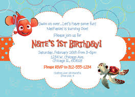 pool party invitations free awesome finding nemo invitations template guve securid co