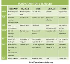 1 Year Old Baby Food Chart Free Printable Food Chart For 2 Year Old