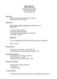 Resume Examples For Jobs For Students | Nfcnbarroom.com