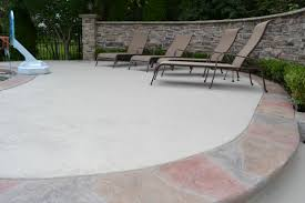 patio concrete slabs. Innovative Stamped Colored Grey Concrete Patio Slabs