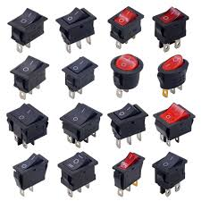 10pcs black mini round 3 pin spdt on off rocker switch snap in