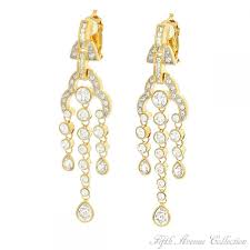 elegant glow gold clip on earrings fifth avenue collection jewelry