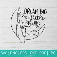 The examples below embed the svg code directly into the html code. Dream Big Little One Svg Dumbo Disney Svg