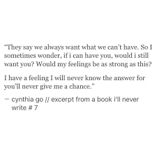 Excerpt From A Book Ill Never Write Cynthia Go Love Quotes