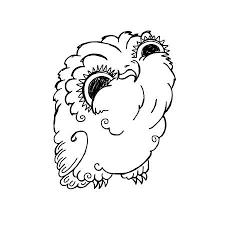 かわいいフクロウ落書きイラストグランジかわいい画像オウレットの