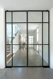 villa beautiful thin black metal frame glass doors i love the somewhat industrial style with concrete