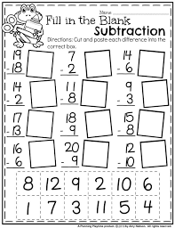 Miss Giraffes Class Fractions In First Grade Free Cut And Paste ...