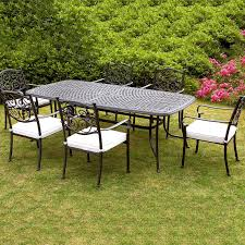 Chic Round Outdoor Dining Table For 6 Stylish Round Patio Table Metal Outdoor Patio Furniture Sets