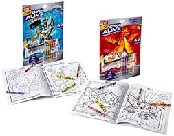 crayola color alive action coloring pages bo set skylanderythical creatures