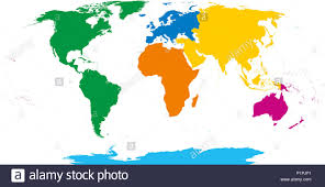 World Map Europe And Asia Six Continents World Map Africa America Antarctica Asia