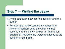 essay strategy where to start how to get organized and how to step 7 writing the essay avoid confusion between the speaker and the author